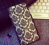Черный тату чехол бампер кейс для смартфона телефона Iphone Айфона 5 5s