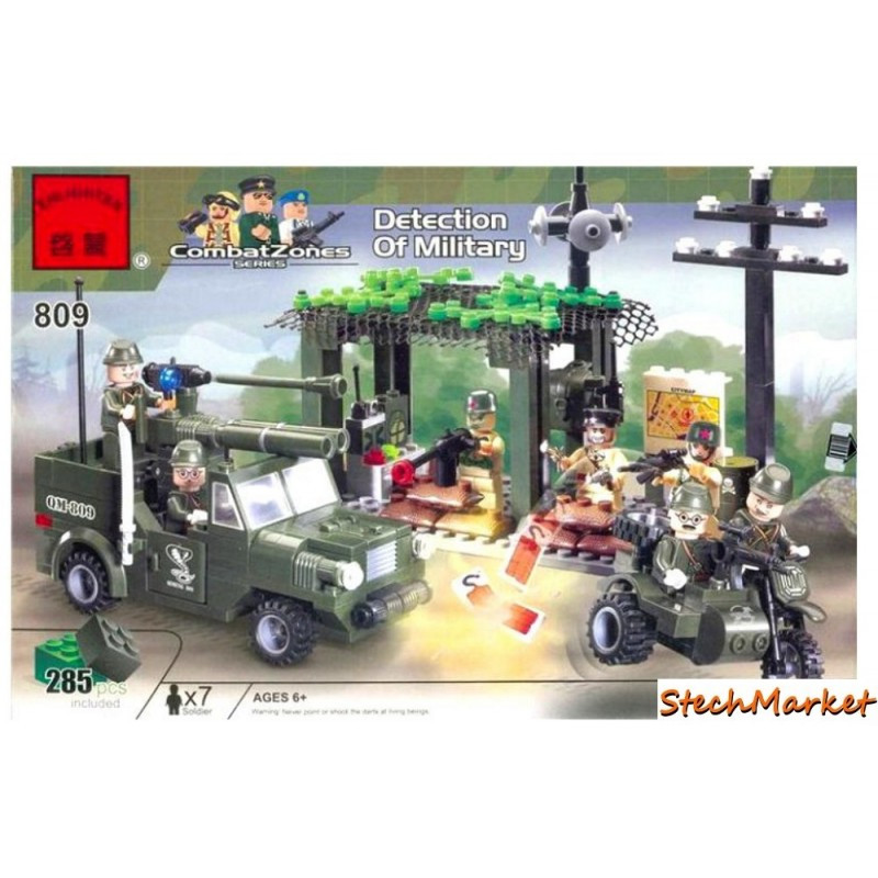 """Конструктор """"Разведгруппа зоны боевых действий"""" Combat Zones Brick 809 285 деталей"""