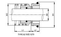 торцовое уплотнение  к насосу  ALFA LAVAL MR-185S  MR-200S 9611921949 9611-92-1949