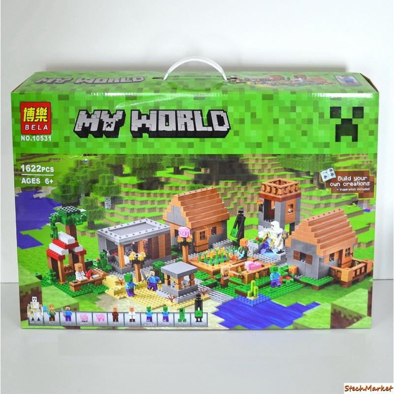 """Конструктор """"Деревня"""" Bela Minecraft 10531 1622 деталей"""
