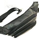 Сумка на пояс кожвинил Nike (черный)13*36см, фото 2