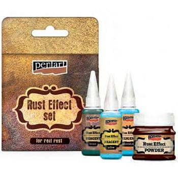 Набор материалов Pentart для создания эффекта ржавчины 34114