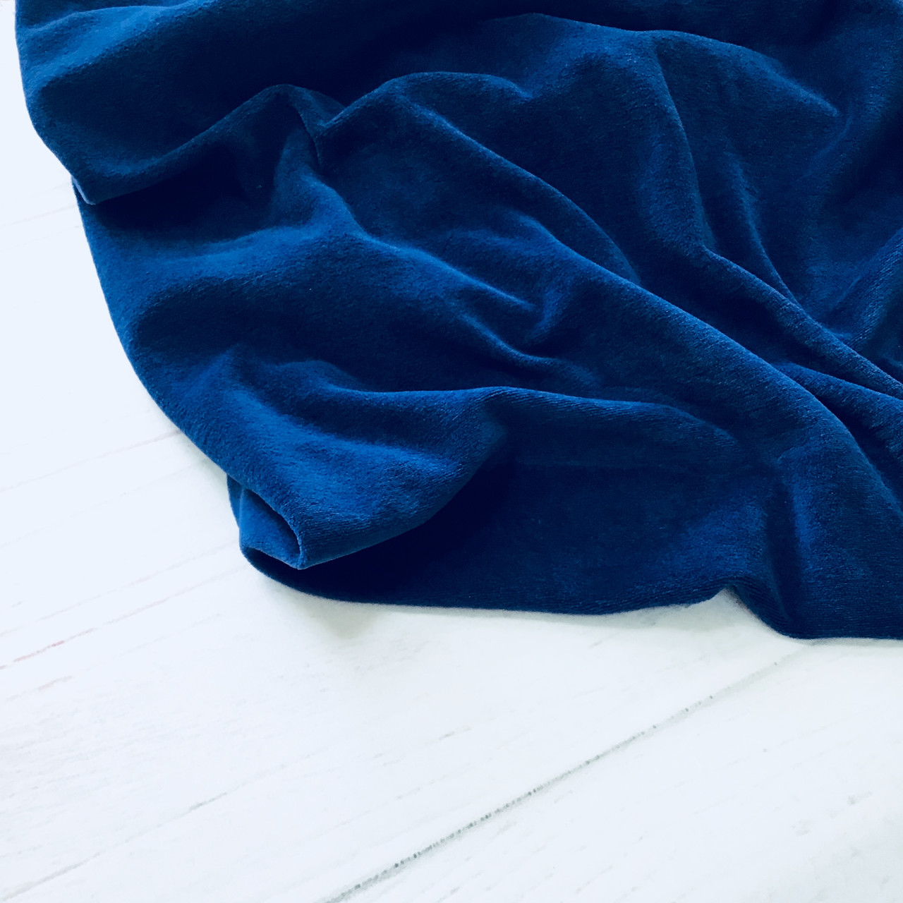 Велюр хлопок синий