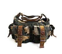 Молодежная сумка Virginland   хаки   камуфляж, фото 1