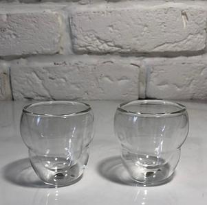 Комплект стаканов с двойным дном 2 шт 75 мл Herisson (EZ-3004)