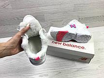 Зимние женские кроссовки New Balance 608,белые с розовым, фото 2