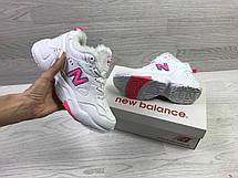 Зимние женские кроссовки New Balance 608,белые с розовым, фото 3