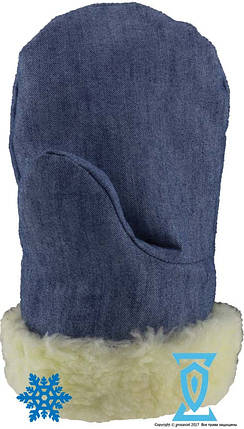 Рукавица теплая джинсовая, фото 2
