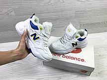 Зимние женские кроссовки New Balance 608,белые с синим, фото 3