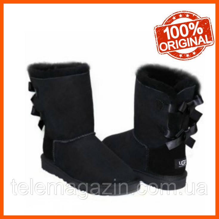 Сапоги угги женские UGG Bailey Bow Boots Black Оригинал