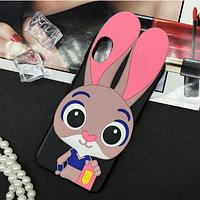 Резиновый 3D чехол для Xiaomi Mi 8 Pro Джуди (2 цвета)