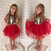 Детское нарядное платье с декором и перчатками в расцветках. МК-1-1118, фото 3