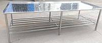 Усиленный технологический стол c бортами и полкой, фото 1