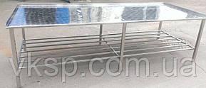 Усиленный технологический стол c бортами и полкой
