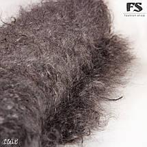 Кудрявый оренбургский серый пуховой платок Джамалия 95 см, фото 3