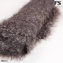 Кудрявый оренбургский серый пуховой платок Джамалия 115 см, фото 2