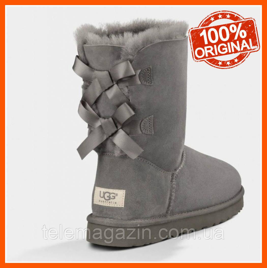 Угги женские купить Оригинал Bailey Bow Boots Grey