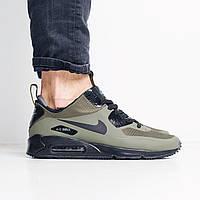 Кроссовки камуфляжные мужские зимние Nike Air Max 90 Mid Winter (Dark Loden) (реплика)