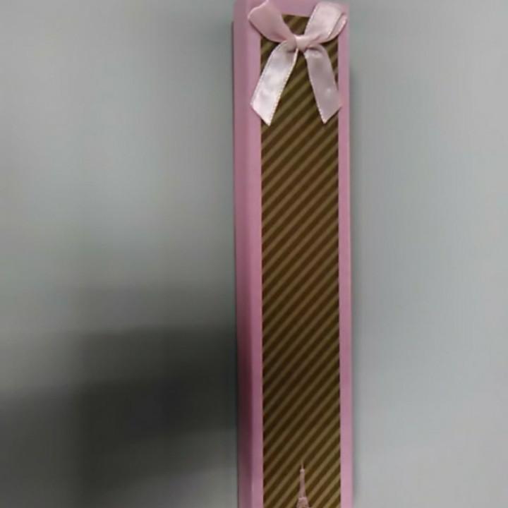 Подарочная коробочка розовая в полоску