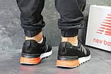 Мужские весенние кожанные кроссовки New Balance 574 черно белые, фото 5