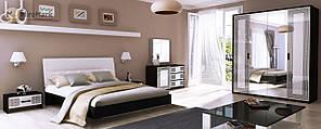 """Спальня """"Віола"""" від Миро-Марк(глянець білий ,чорний мат)."""