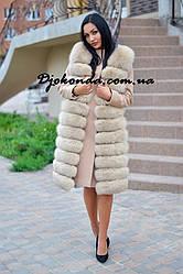 Комплект пальто-трансформер из кашемира с жилетом из финского песца