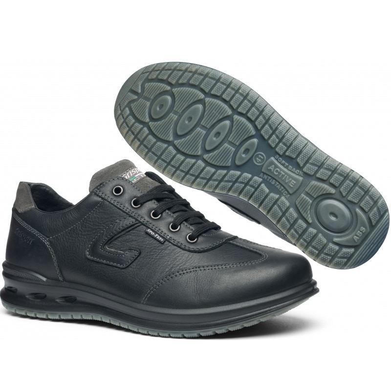 Полуботинки мужские Grisport active 43011 (кожаные, осень-зима, непромокаемые, мембрана,короткие, гриспорт)