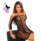 """Сексуальное черное боди платье """"Страсть""""10220, фото 8"""