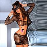 """Сексуальное сетчатое боди-платье """"Доротея""""6983, фото 3"""