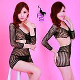 """Сексуальное сетчатое боди-платье """"Доротея""""6983, фото 2"""
