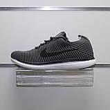 Мужские весенние кроссовки серые, текстиль Nike Flyknit G, фото 3