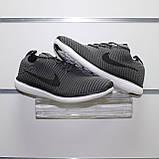 Мужские весенние кроссовки серые, текстиль Nike Flyknit G, фото 4
