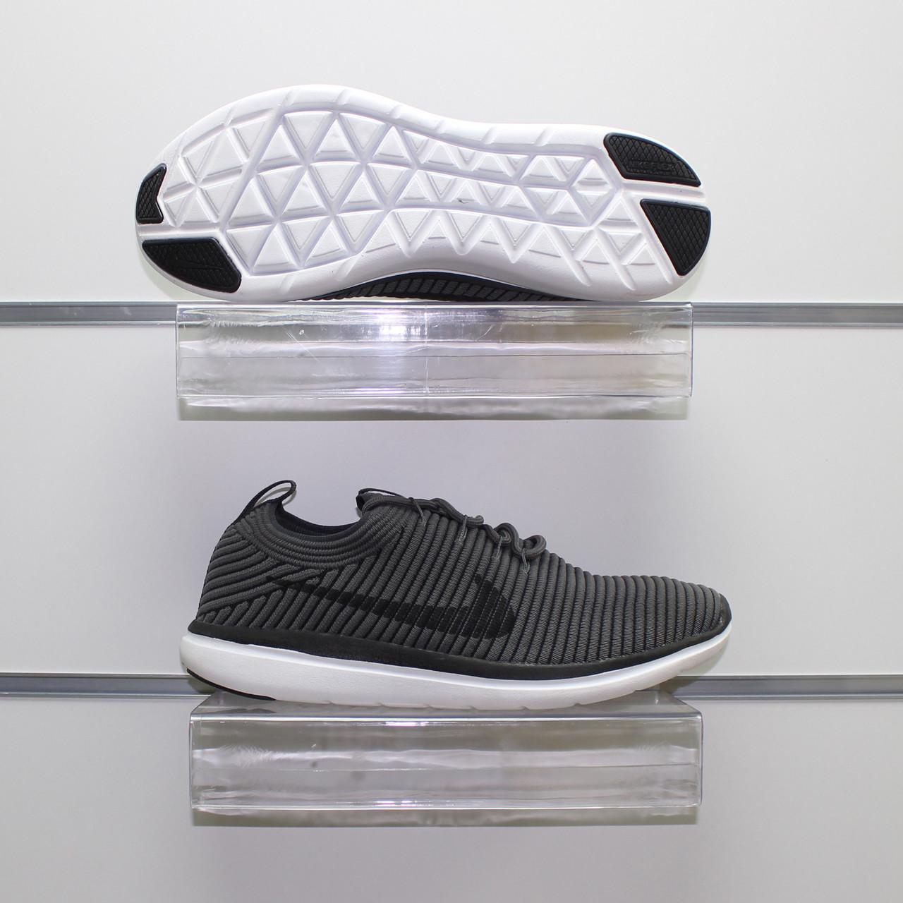 Мужские весенние кроссовки серые, текстиль Nike Flyknit G