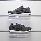 Мужские весенние кроссовки серые, текстиль Nike Flyknit G, фото 5