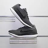Мужские весенние кроссовки серые, текстиль Nike Flyknit G, фото 2