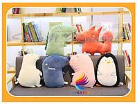 Подушки игрушки корпоративные декоративные оптом с Вашим логотипом (от 100 шт)
