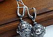 Винтажные серебряные серьги , фото 3