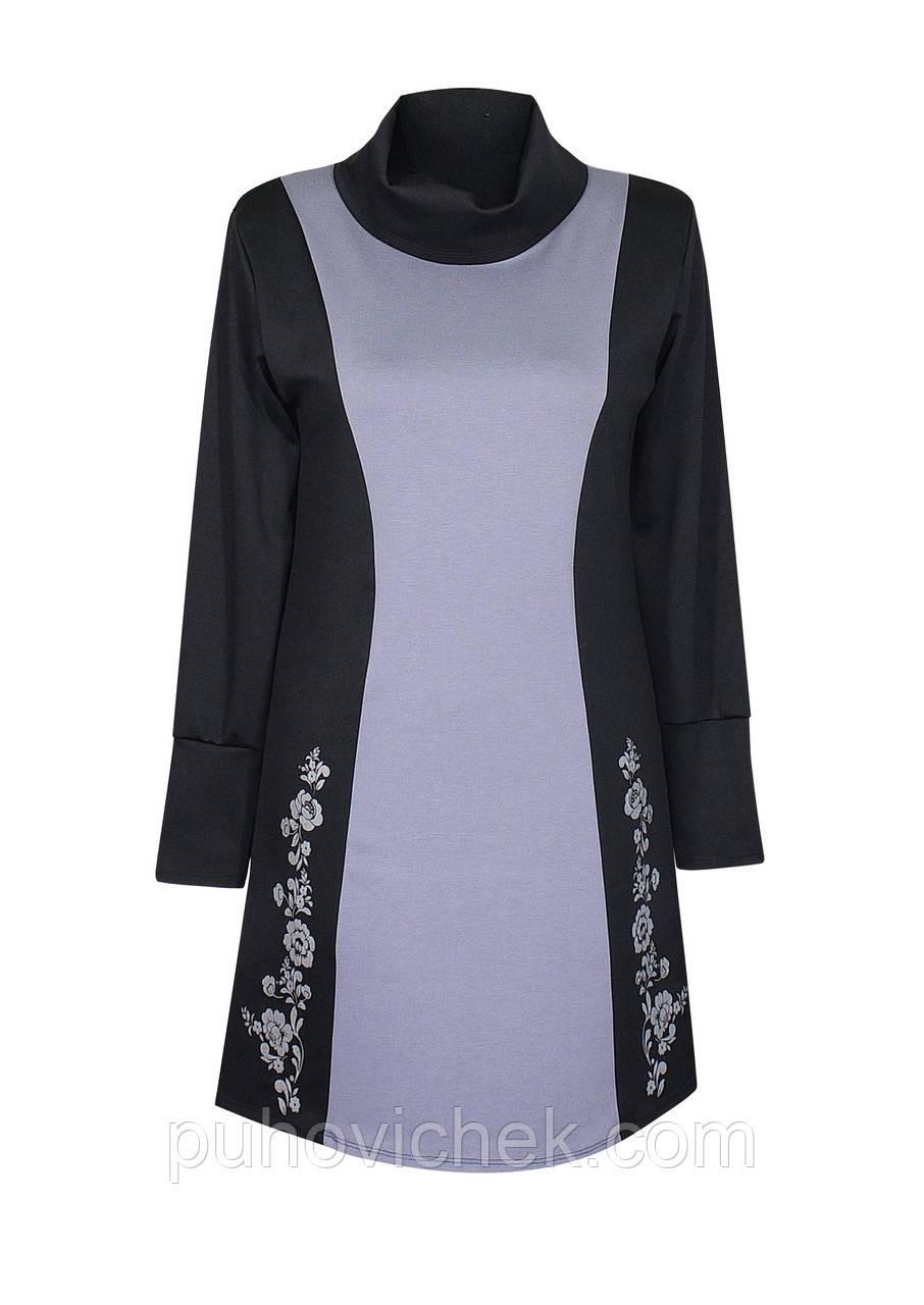 Платье теплое  большого размера