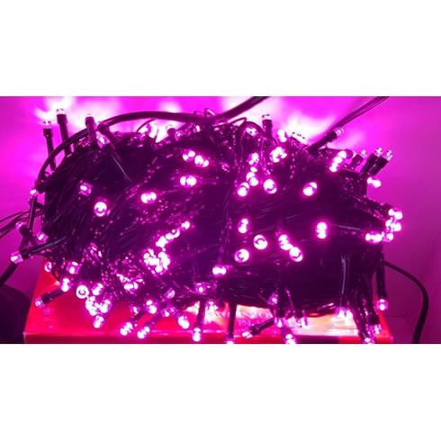 Гирлянда на 500 LED розовая