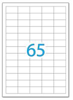Наклейки А4  38,1 x 21,2 (65) 100л с прямокутними краями, фото 1