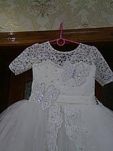 Шикарное детское бальное праздничное платье на Новый Год 8-9 лет