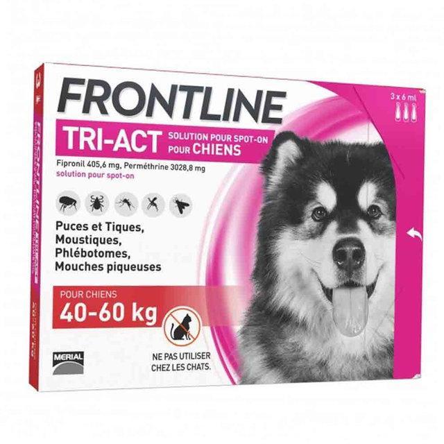 Крап. Merial Frontline Tri-Act Меріал Фронтлайн Три-Акт для собак від комарів і кліщів 40-60кг
