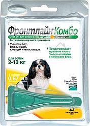 Крап. Merial Frontline Combo Spot-on Меріал Фронтлайн Комбо Спот-он від від бліх для собак 2-10кг