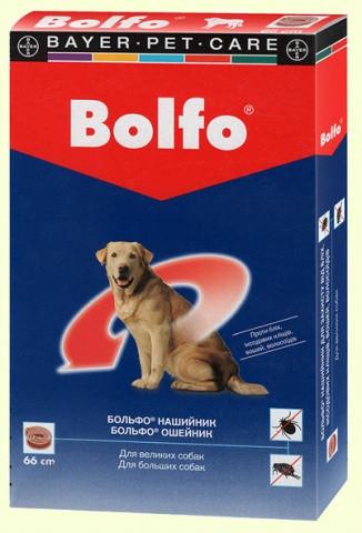 Нашийник Bayer Bolfo Байєр Больфо від бліх і кліщів для великих собак 66см
