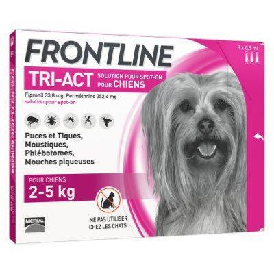 Крап. Merial Frontline Tri-Act Меріал Фронтлайн Три-Акт для собак від комарів і кліщів 2-5кг