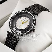 Женские наручные часы Chopard Quartz Black White Dimond Шопард качественная премиум реплика, фото 1