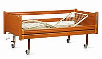 Кровать медицинская  трехсекционная с деревянной отделкой OSD-94