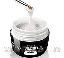 Naomi UV Builder Gel White - белый строительный гель, 14 г