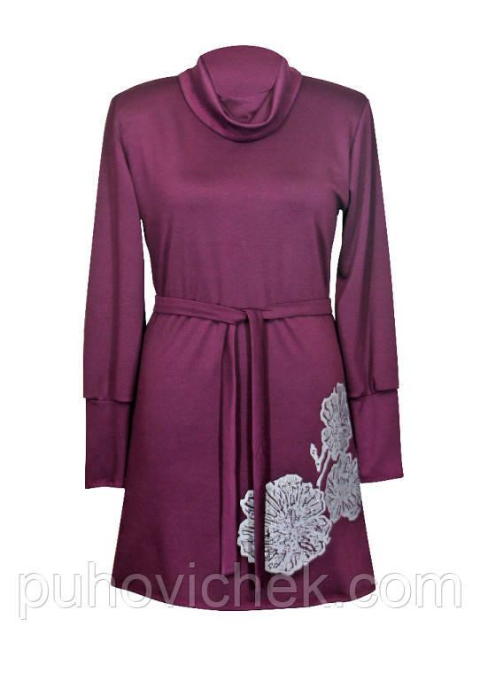 Платье женское теплое с длинным рукавом