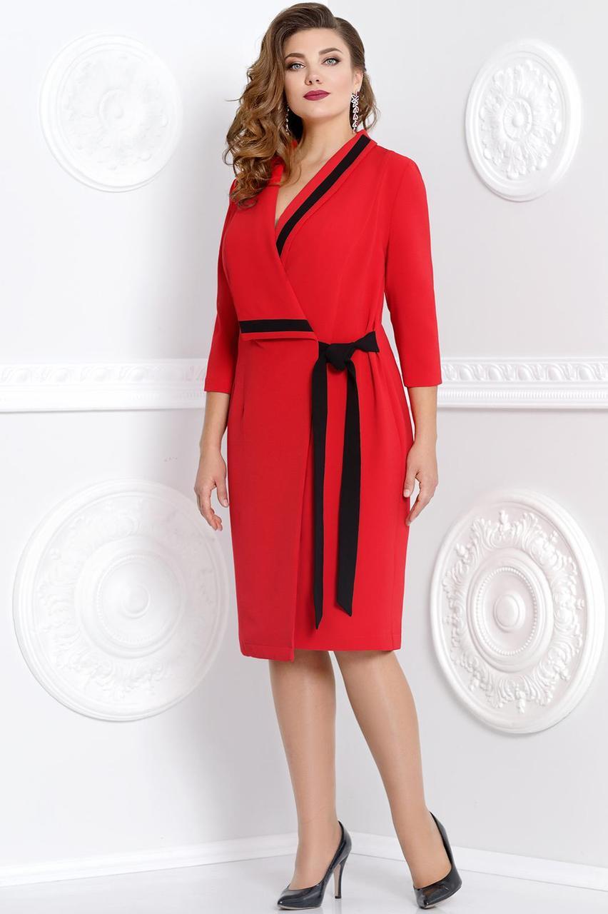 773d6d06f01 Красное повседневное платье 52-56р